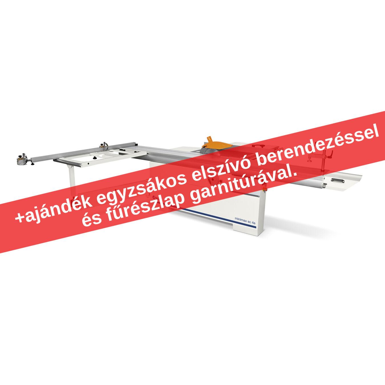 SCM Minimax SC4E + ajándék egyzsákos elszívó berendezéssel és fűrészlap garnitúrával.