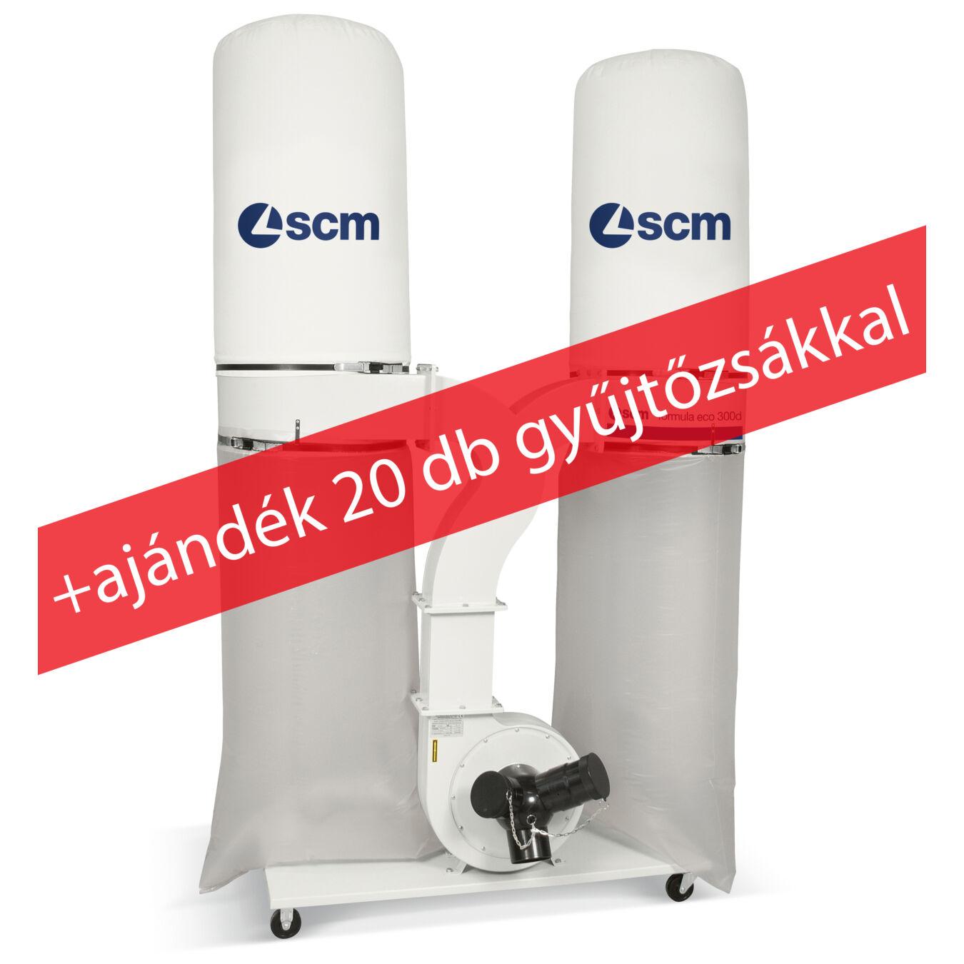SCM ECO 300D + ajándék 20db elszívó zsák